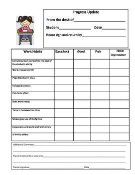 Progress Report English And Spanish Progress Report School Report Card Preschool Lessons