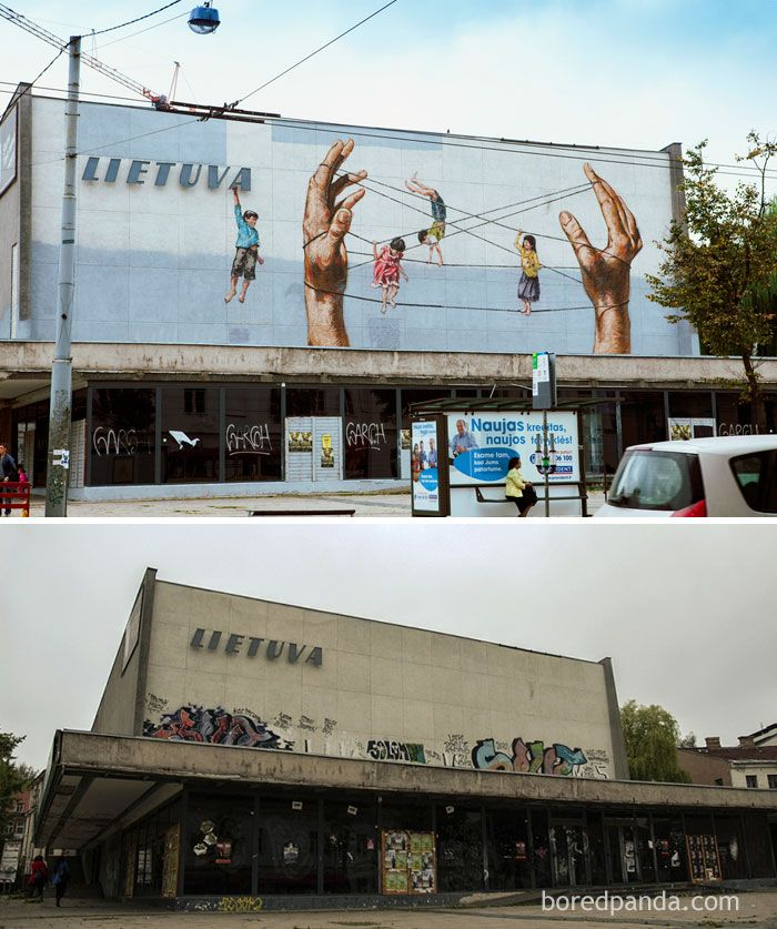 10+ Incredible Before And After Street Art Transformations
