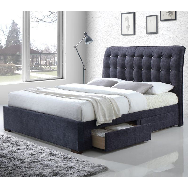 Best Sumter Upholstered Storage Sleigh Bed Grey Storage Bed 400 x 300