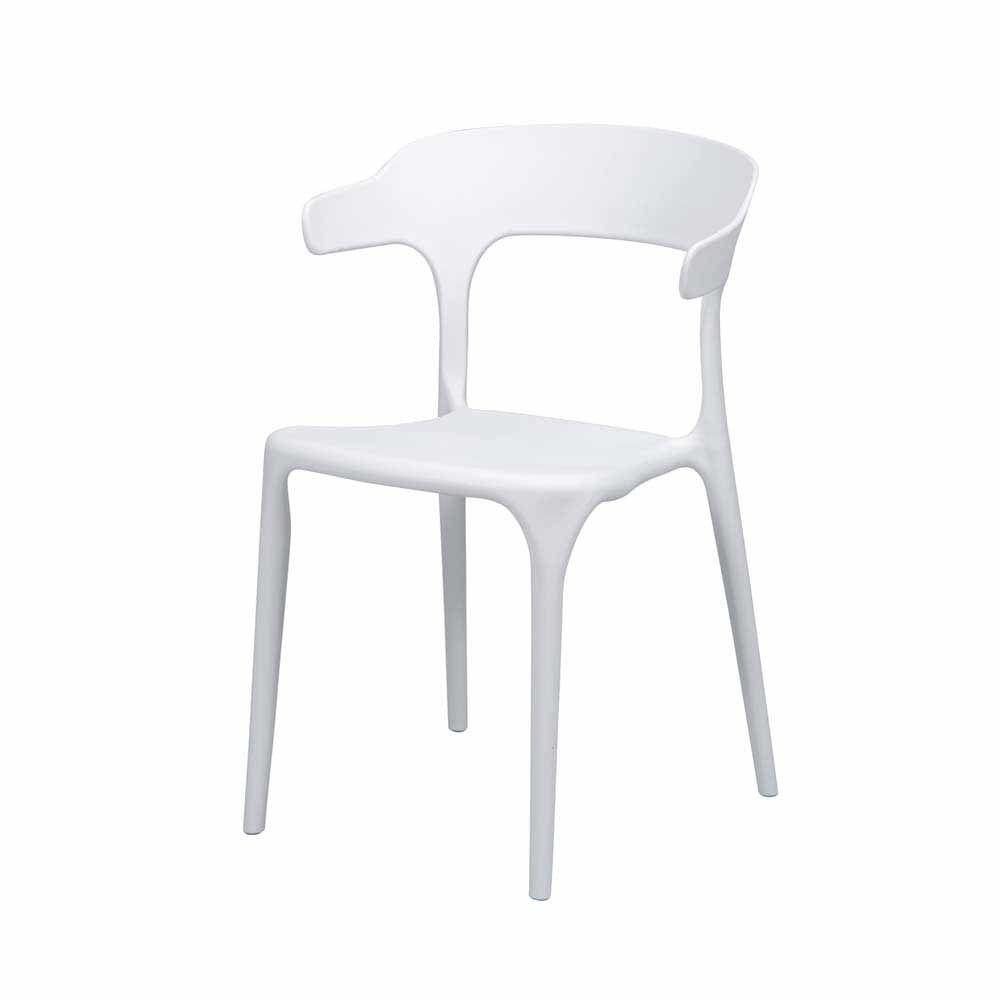 Esszimmerstuhl Set in Weiß Kunststoff (4er Set) Jetzt bestellen ...