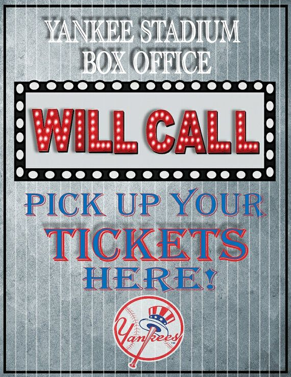 Will Call sign for sport themed wedding event escort by BowersInk - event ticket ideas