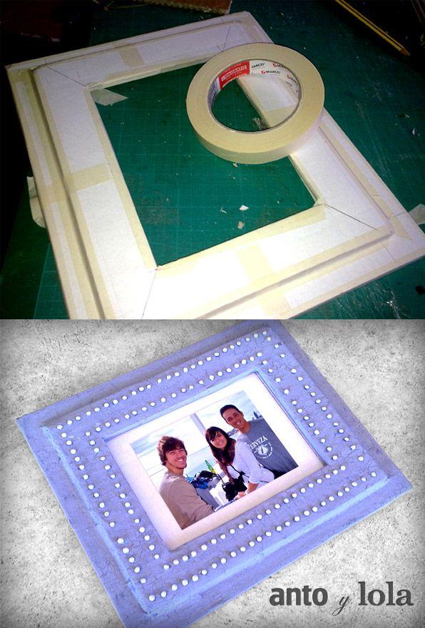 Como hacer un marco de fotos de carton y papel   Marcos de fotos ...