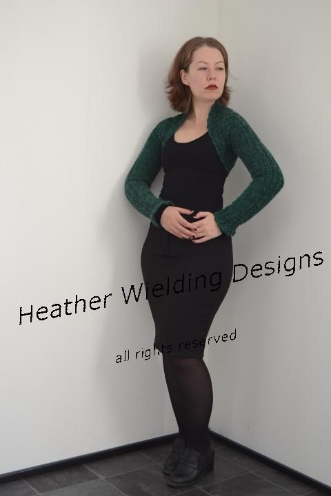 752a09810 Knit pattern for Heather s Faux Cable Shrug