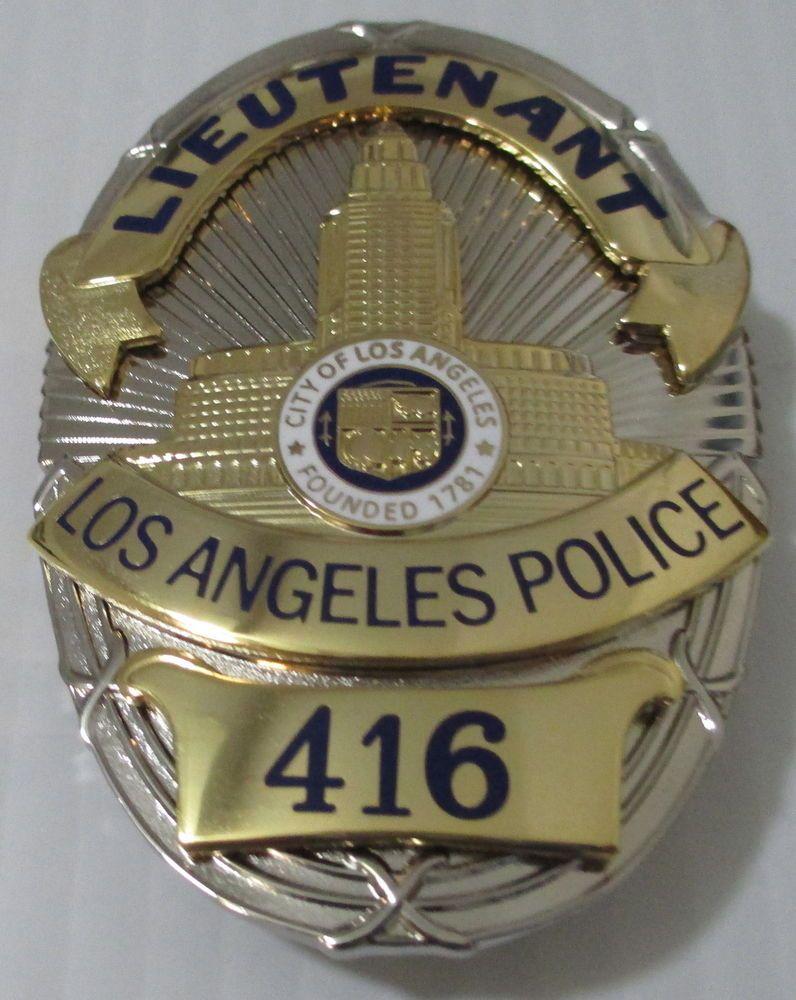 Police cap badges ga rel hat badges page 1 garel - Obsolete Los Angeles Police Columbo Movie Tv Prop Badge Made In U S A