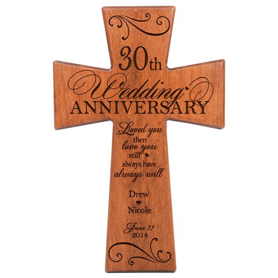 20 Year Wedding Anniversary Gifts For Her: Personalized 30th Anniversary Gift For By