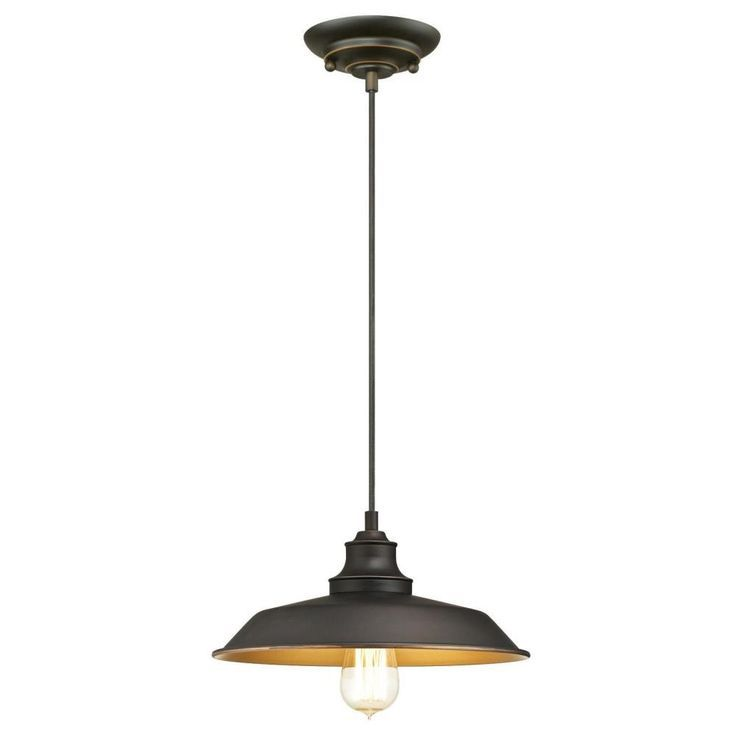 Iron Hill pendant -- A perfect industrial touch for a farmhouse-style kitchen.