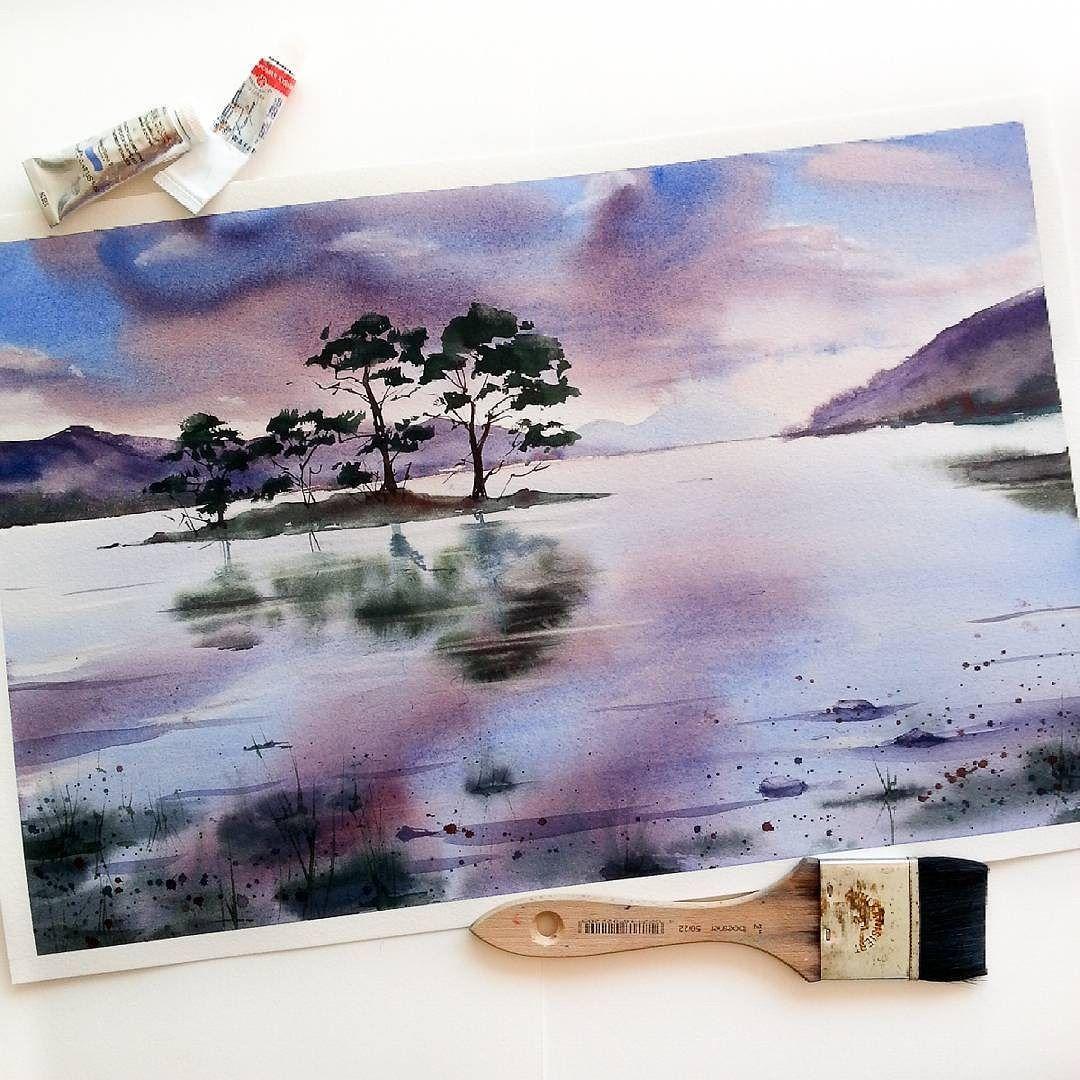 Pinterest Lifeingray Aquarelle Landschaften Malerei