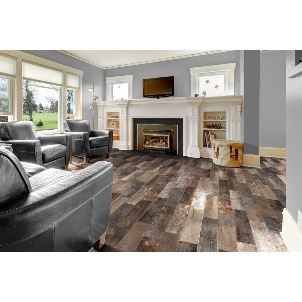 Roanoke Multi Wood Plank Porcelain Tile 8in X 32in 100344217