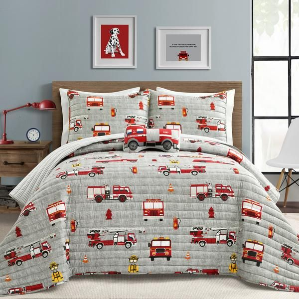 Make A Wish Fire Truck Quilt Set in 2020   Lush decor ...