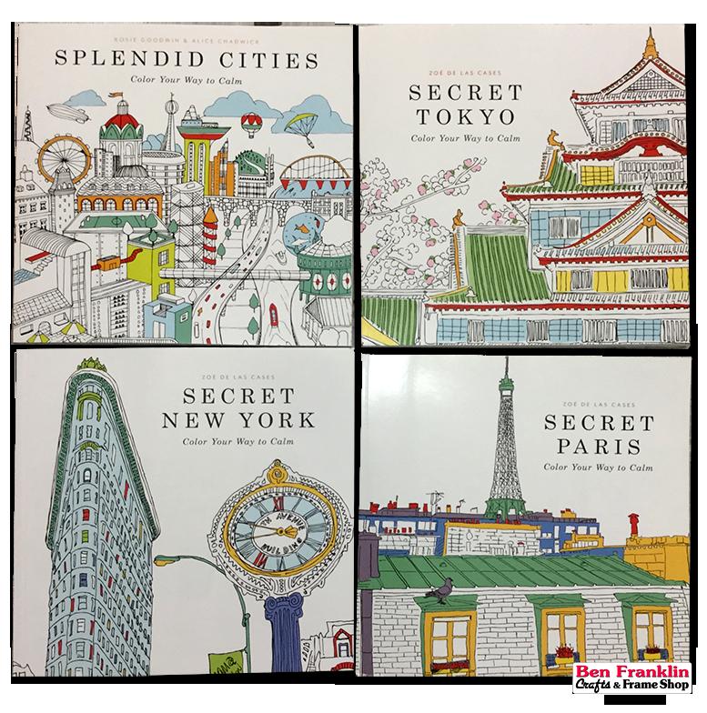Secret Cities Adult Coloring Books By Zoe De Las Cases Titles Splendid Tokyo New York And Paris Sold Out Color Your Way