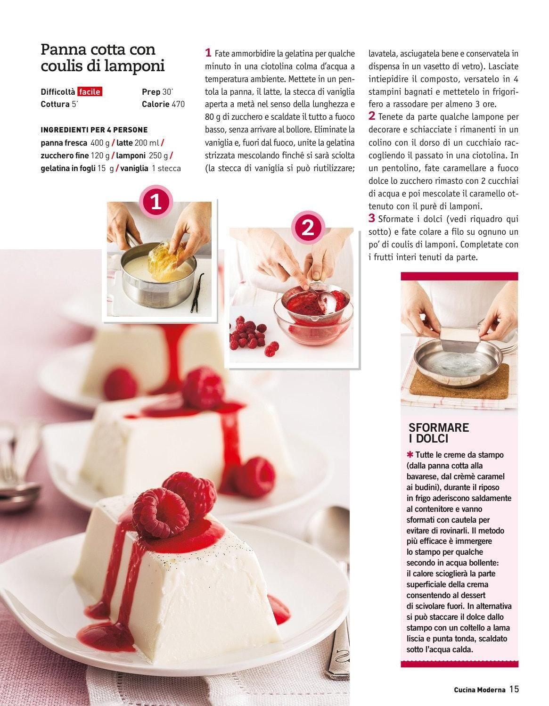 Panna cotta con Coulis di lamponi  Cucina Moderna - 2013.05 Maggio by Kroc Rock - issuu