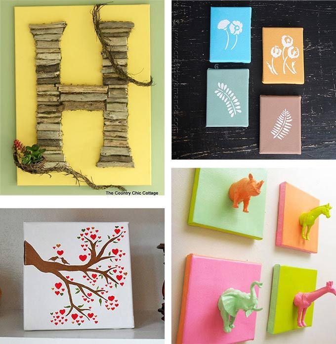 DIY Canvas Wall Art Ideas: 30+ canvas tutorials | Lame Art ...