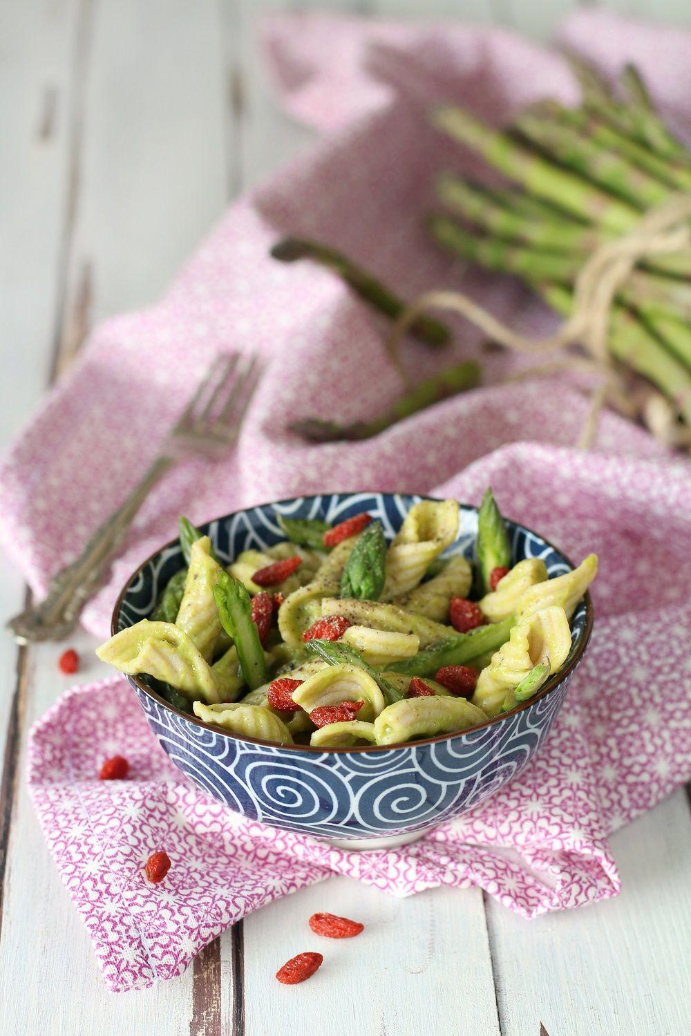 Pasta Khorasan Con Asparagi E Bacche Di Goji Papilla Monella Ricette Idee Pasto Sano Pasta Agli Asparagi