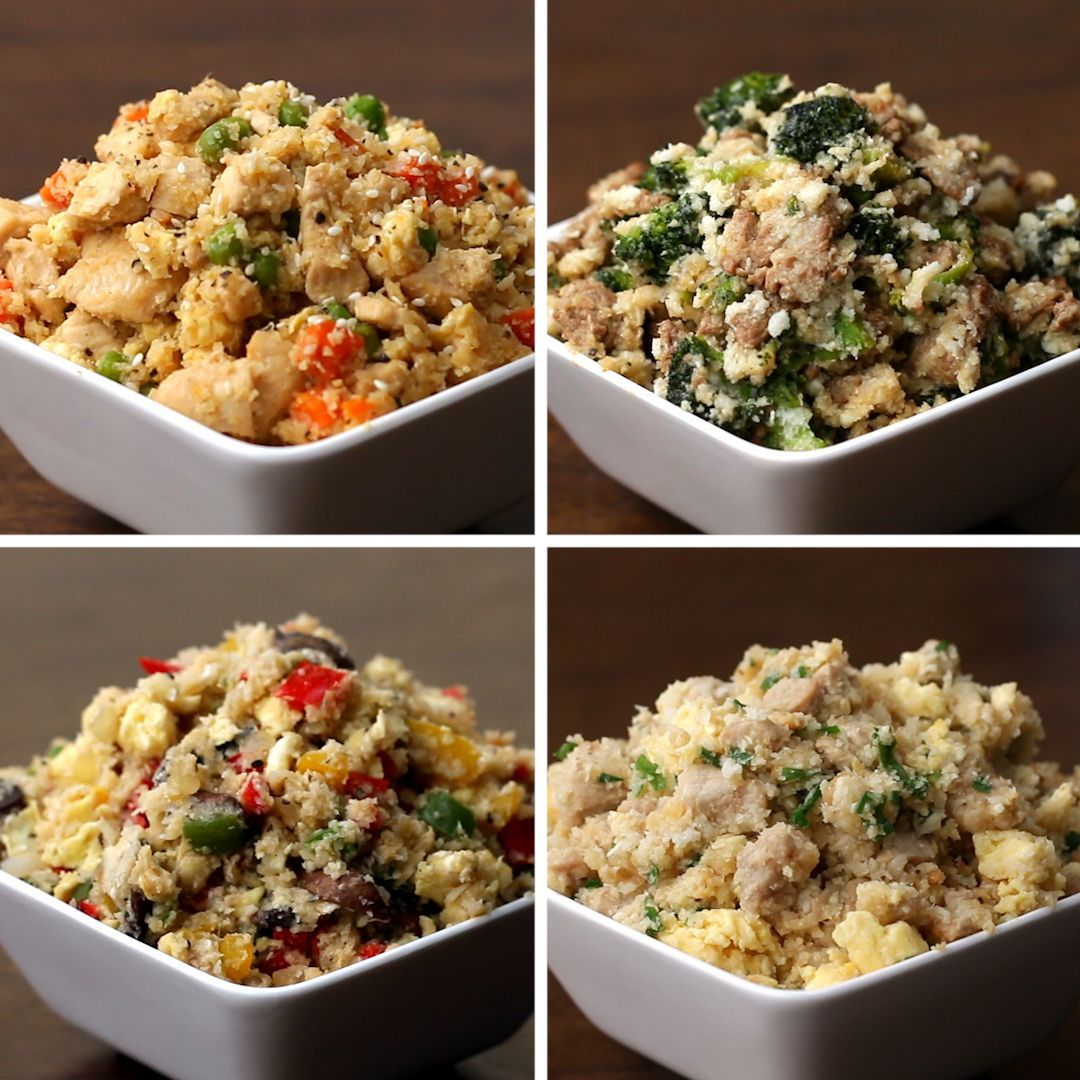 Cauliflower Fried Rice 4 Ways | Recipes -  Cauliflower Fried Rice 4 Ways by Tasty  - #animecharacters #animeeyes #animefunny #animeromance #animetumblr #Cauliflower #foodideas #Fried #ideasforboyfriend #ideasposter #projectideas #Recipes #Rice #Ways
