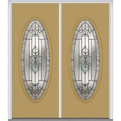 72 In. X 80 In. Cadence Left Hand Large Oval Lite Classic Painted ·  Decorative GlassDouble DoorsFront ...