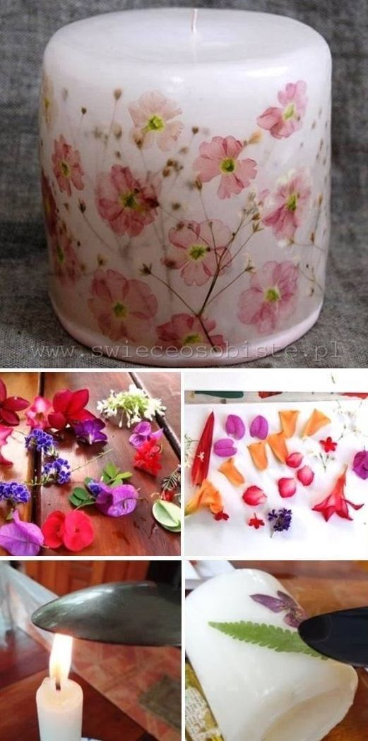 Easy To Make Decorated Candles Just Use A Hot Spoon Too Melt