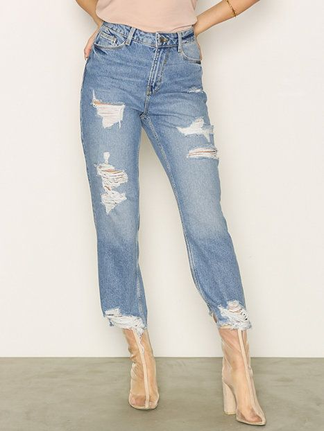 Ripped Straight Leg Jenna Jeans