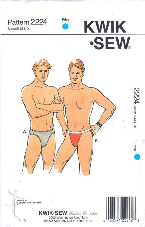 Kwik Sew 2224 Mens BRIEFS Pattern For Knits Underwear Adult Teen ...