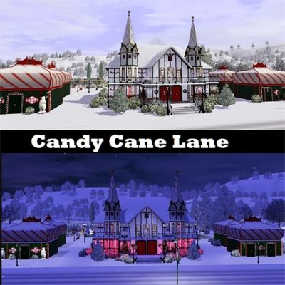 Candy Cane Lane by glenkatko - The Exchange - Community - The Sims 3