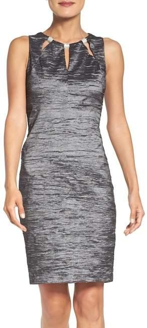 1c4cd437cfdb Eliza J Embellished Cutout Taffeta Sheath Dress (Regular & Petite) # ShopStyle #shopthelook
