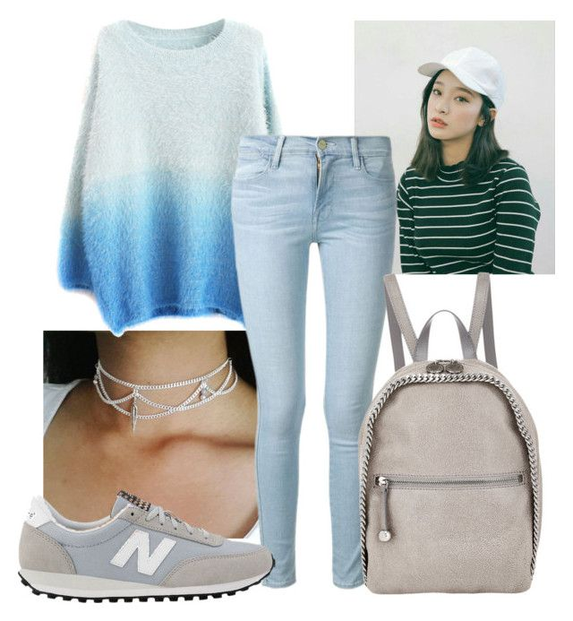 """Untitled #805"" by annie130613 ❤ liked on Polyvore featuring Frame Denim, New Balance and STELLA McCARTNEY"