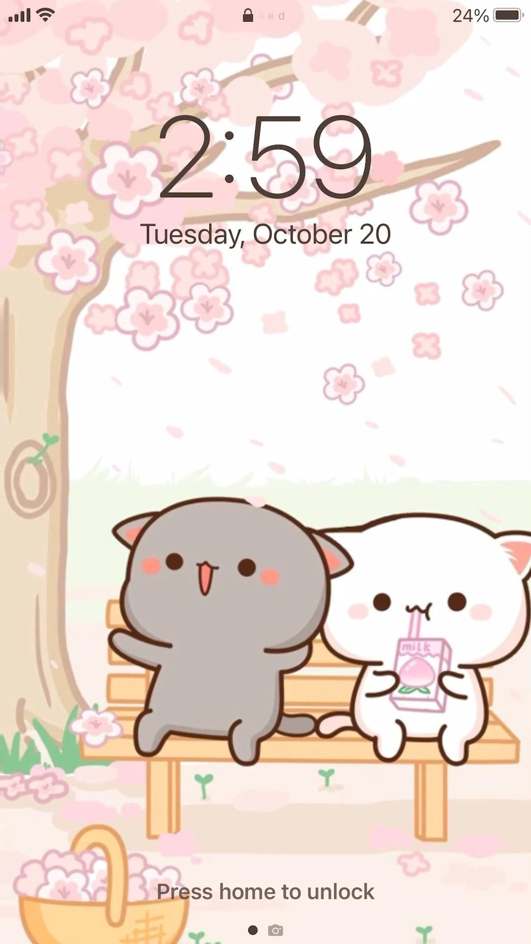 Cute Aesthetic Mochi Peach Cat App Icons
