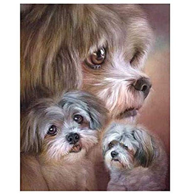 Us Seller Lhasa Apso Cute Dog Diamond Painting Kit5d Full Etsy In 2020 Diamond Painting Cross Paintings Mosaic Kit