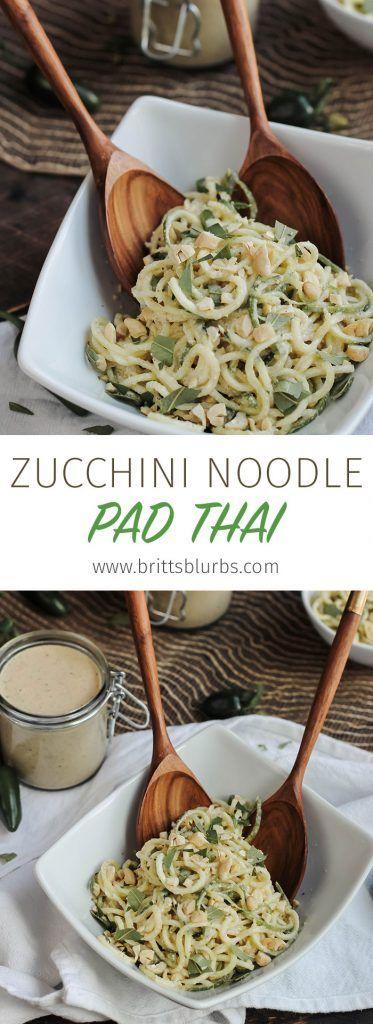 Zucchini Noodle Pad Thai Recipe http://brittsblurbs.com/zucchini-noodle-pad-thai-recipe/