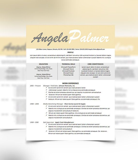 Resume Cover Letter Design Template Microsoft Word by UrbanDsigns - resume writing cover letter