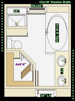 10 X 12 Kitchen Layout Free Bathroom Plan Design Ideas Master Bathroom Design 12 Master Bathroom Layout Master Bathroom Plans Master Bathroom Design Layout