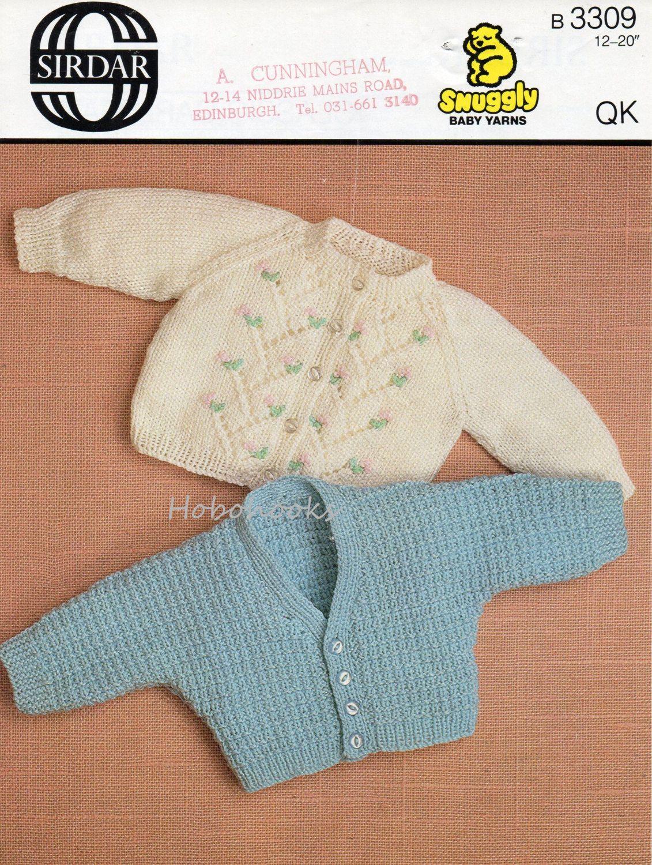 Vintage baby cardigans knitting pattern PDF premature dolman sleeve ...