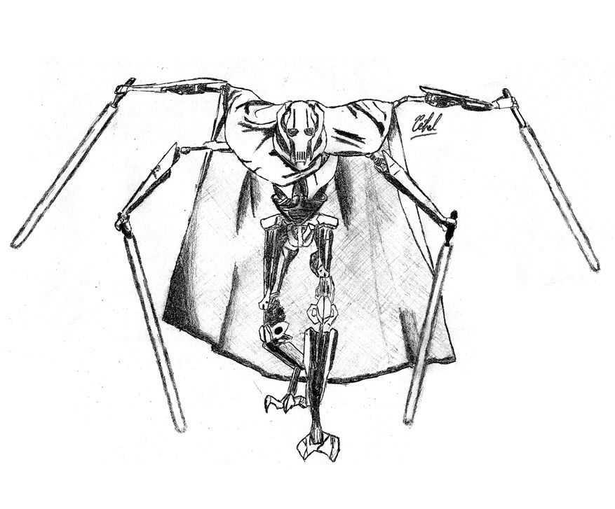 General Grievous Coloriage With Images Coloring Pages Hippie