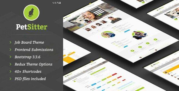 PetSitter v1.7.0 Job Board Responsive WordPress Theme | Nulled ...