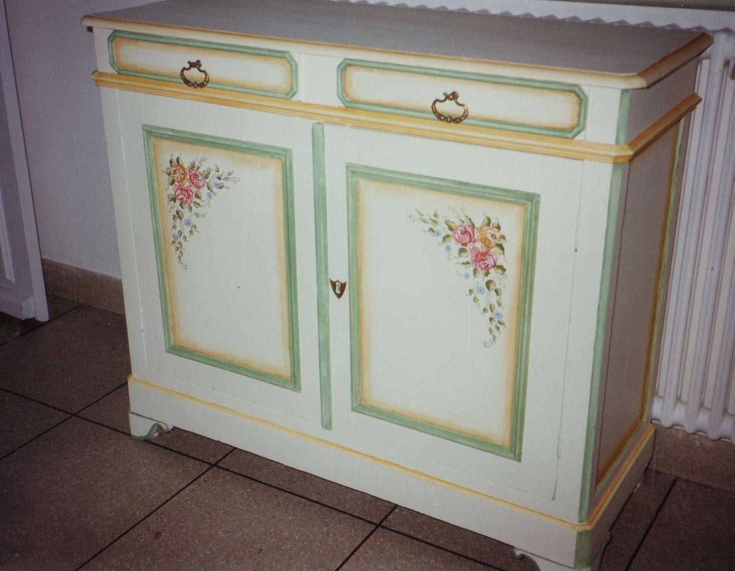 Muebles pintados a mano buscar con google decoracion - Armarios pintados a mano ...