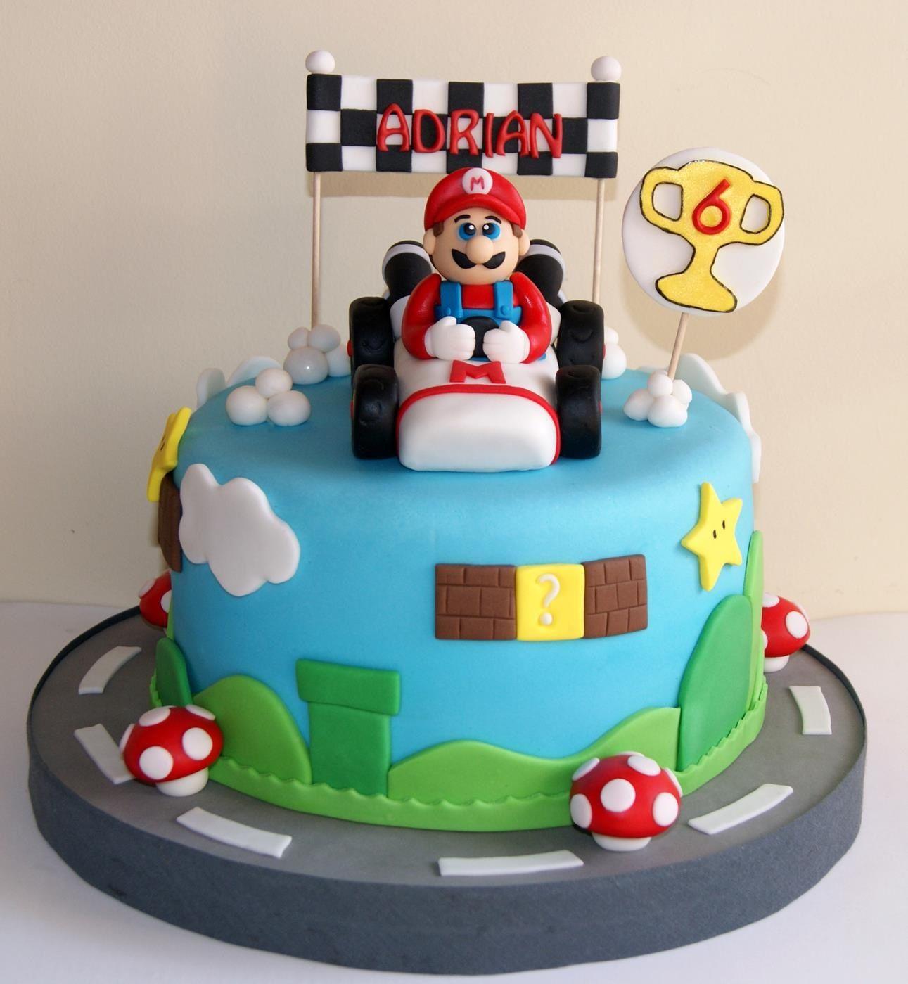 Torta Mario Bross de Artifondant