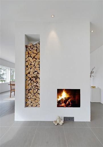 Pin by baranwal anshuman on interiors 39 reverie modern fireplace fireplace design - Holzaufbewahrung wohnzimmer ...