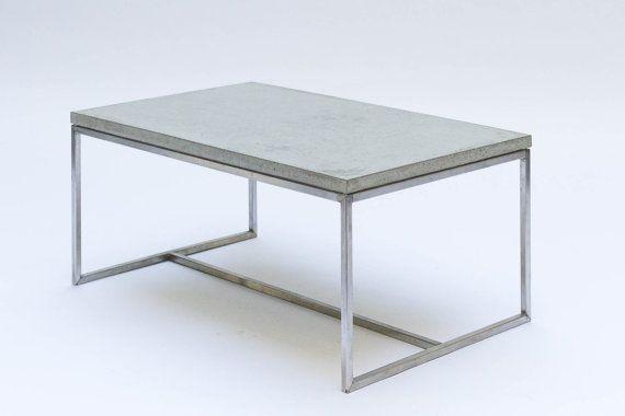 Wohnzimmertisch edelstahl ~ Coffee table concrete and stainless steel couchtisch beton