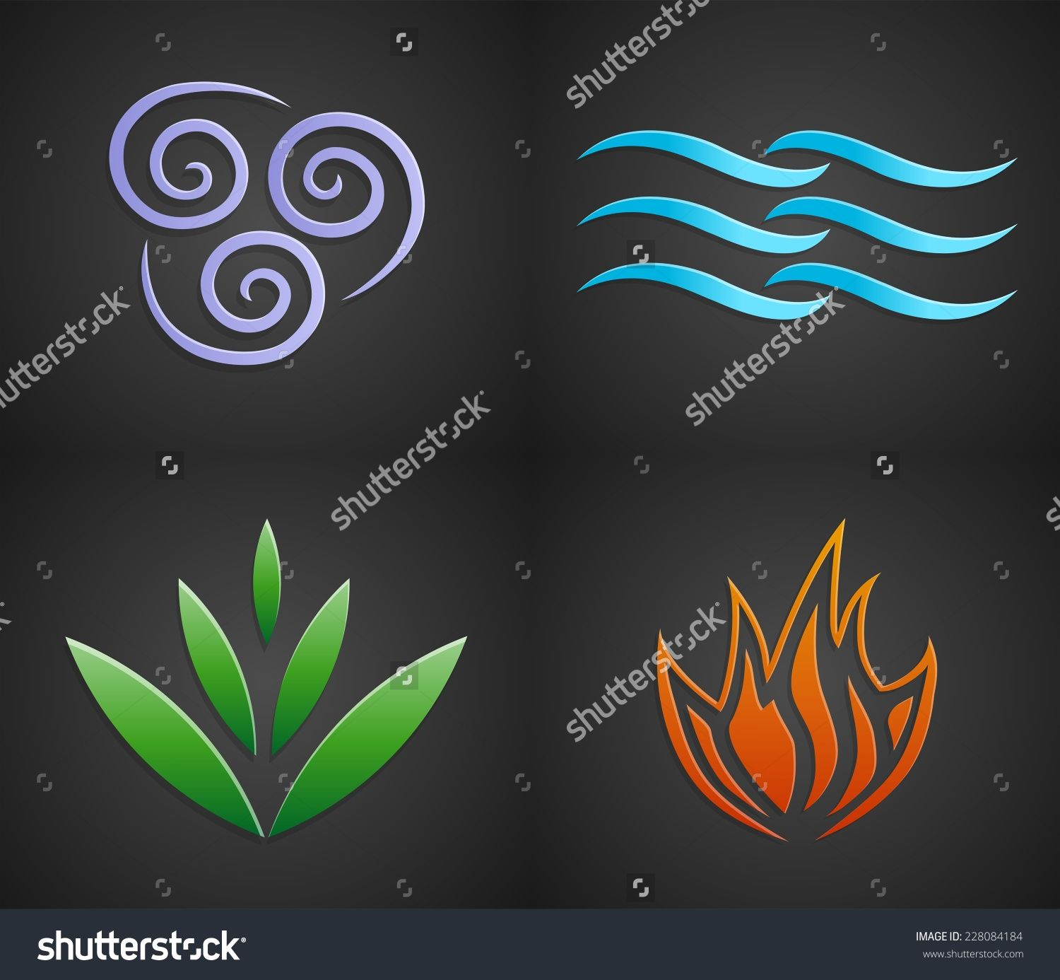 Save to a lightbox home ideas pinterest lightbox symbols and vector symbols of four elements of nature air water land fire biocorpaavc Gallery