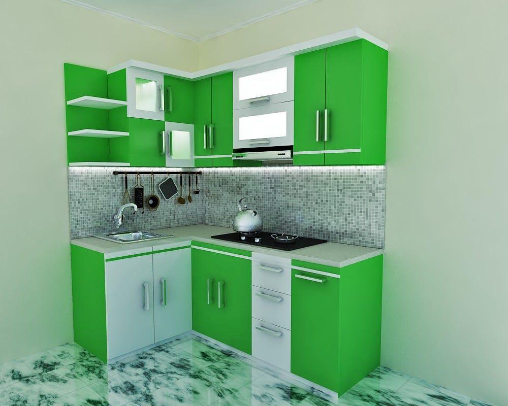 Desain Dapur Warna Hijau Desain Dapur Dapur Kecil Dapur
