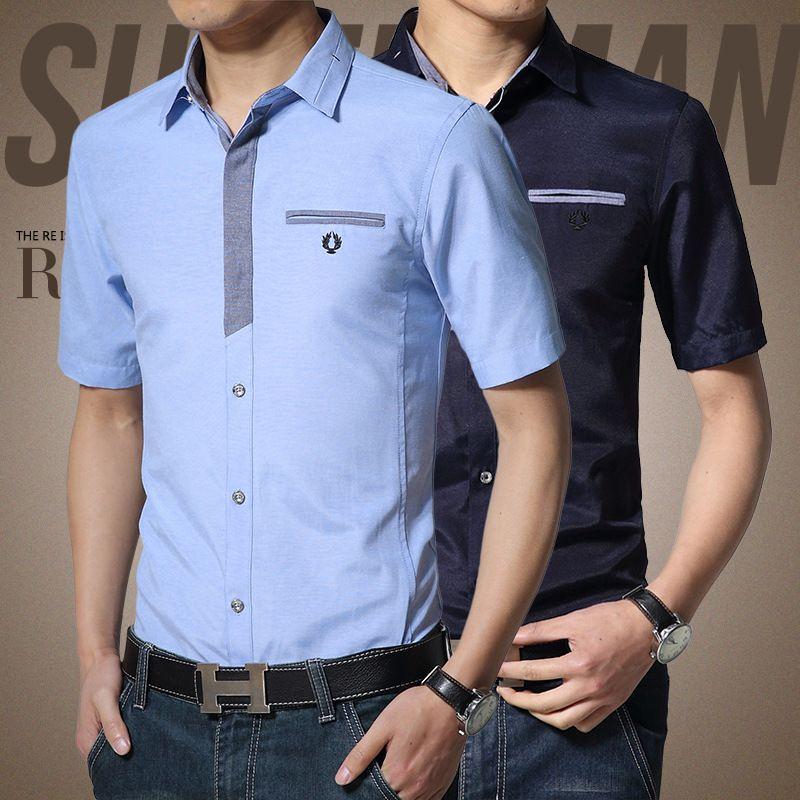 Moda Camisa Caballero Manga Corta Buscar Con Google Men Shirt Style Mens Shirt Dress Mens Attire