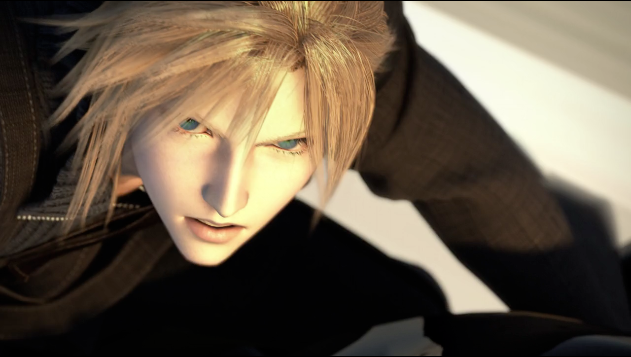 A Screenshot Of Cloud Strife From Advent Children Final Fantasy Vii Cloud Cloud Strife Cloud And Tifa