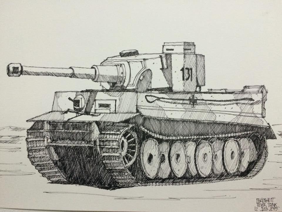 Картинки тигр танк карандашом