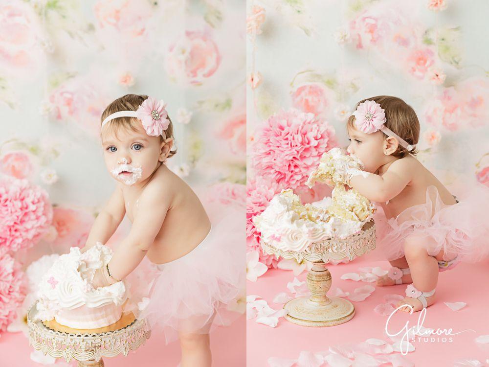 Pleasant Birthday Cake Smash Photographer One Year Old Smash Cake Girl Birthday Cards Printable Inklcafe Filternl