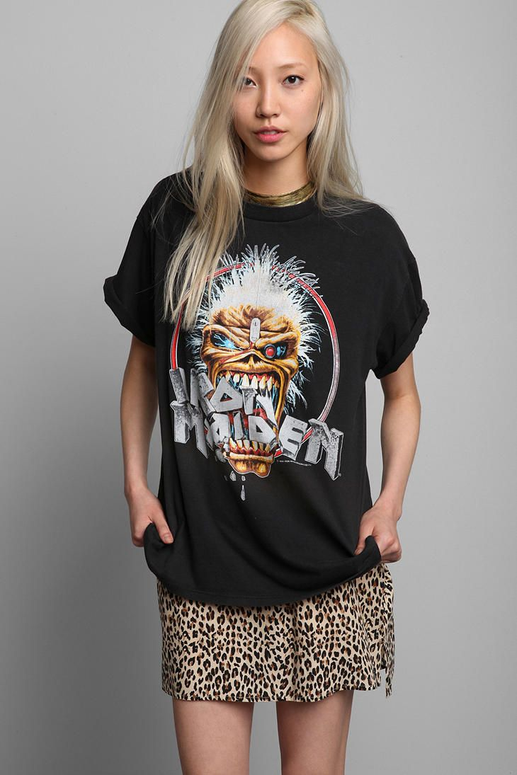 85237e80 Vintage '80s Iron Maiden Tee. If you like metal band with cool shirt  design, check out my band Trainwreck Architect. We are from Montreal and  have really ...