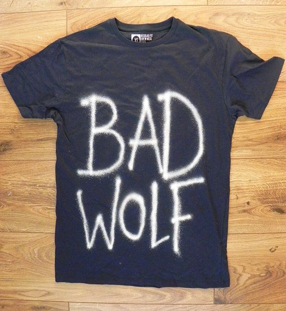 Made to Order! Doctor Who Bad Wolf T Shirt Mens