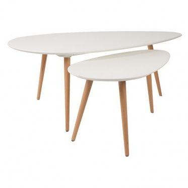 lot de 2 tables suede | un, 2! and 'salem's lot