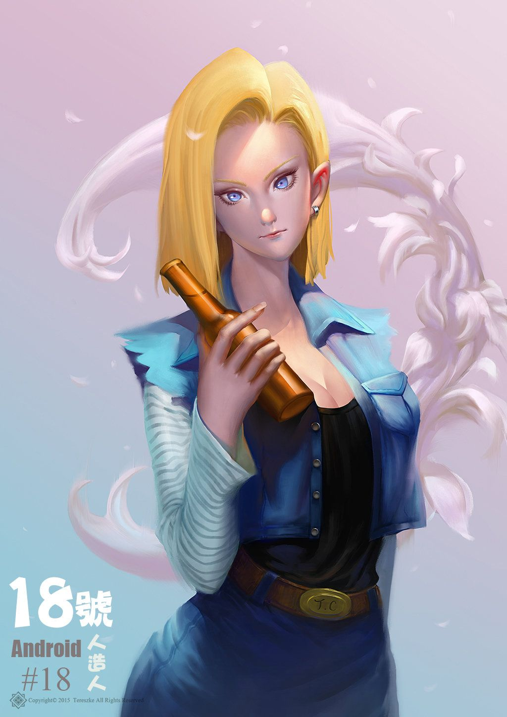 Pin By Holly Waldenmeyer On Dbz  Android 18, Android, Fan Art-4291