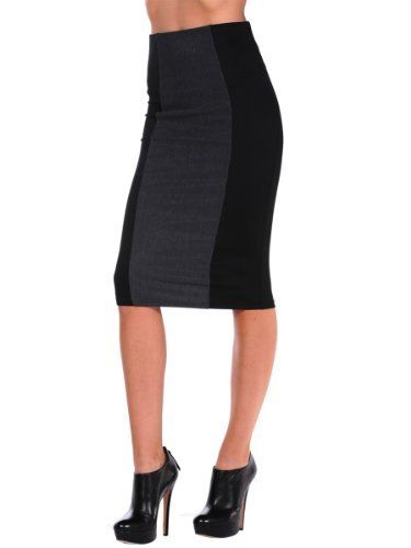 Costa Blanca Womens Mixed Media Pencil Skirt - Grey - Small Costa Blanca. $45.00
