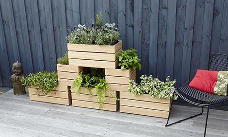 Diy Stackable Wooden Planter Boxes Wooden Garden 400 x 300