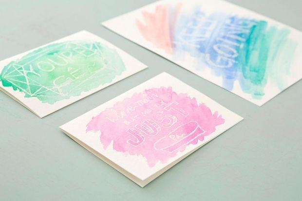 Homemade Birthday Cards For Best Friend ~ Diy gifts for your best friend watercolor cards gift and craft